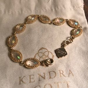 Kendra Scott Clear Iridescent Jana Bracelet!